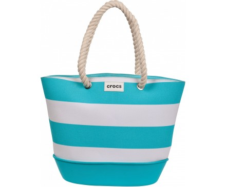 Canvas Striped Beach Tote