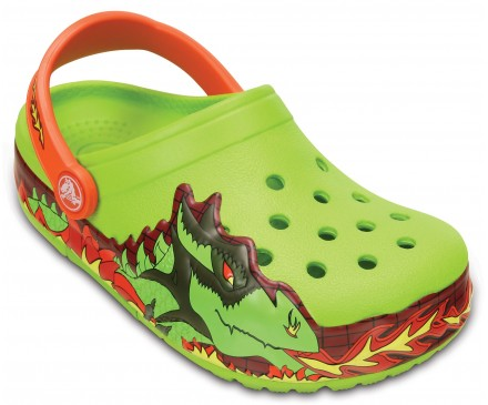 Kids' CrocsLights Fire Dragon Clog