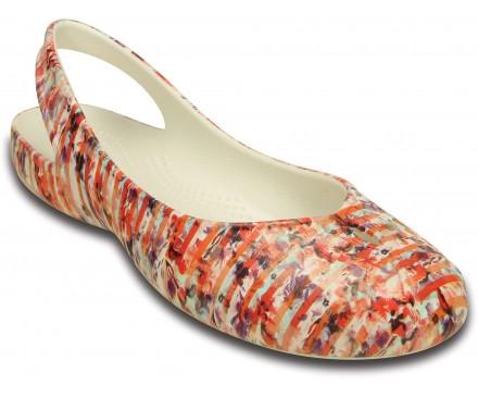 Women's Olivia II Striped Floral Flat