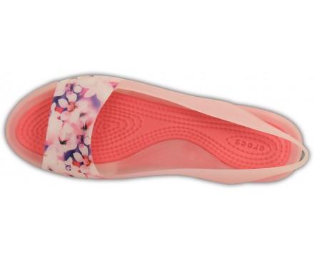 Women's ColorBlock Soft Floral Flat