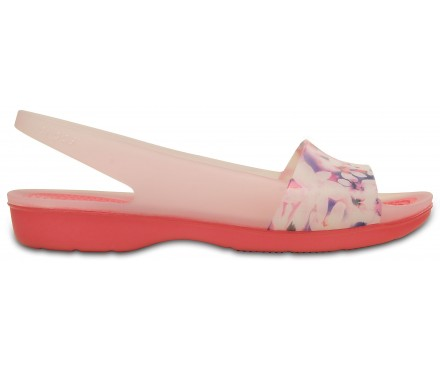 Women's ColorBlock Soft Floral Flat