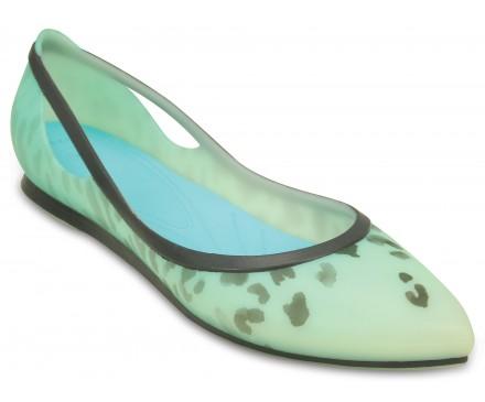 Women's Crocs Rio Leopard Fade Flat