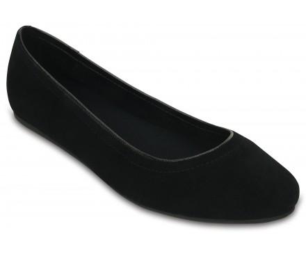 Women's Crocs Lina Suede Flat