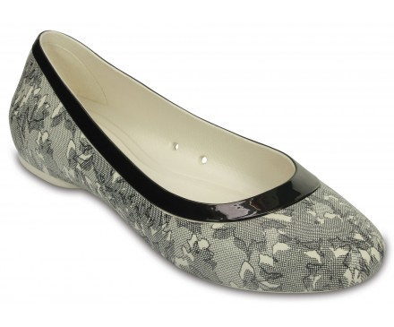 Women's Crocs Lina Shiny Flat