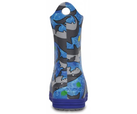 Kids' Crocs Bump It Graphic Rain Boot