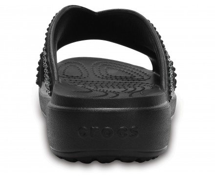 Women's Crocs Sloane Embellished Cross-Strap Sandals