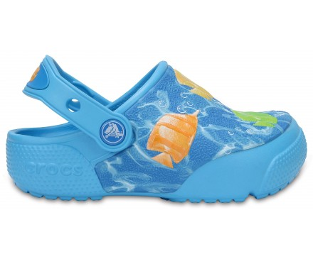 Kids' Crocs FunLab Lights Fish Clogs