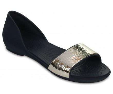 Women's Crocs Lina Embellished D'Orsay Flat