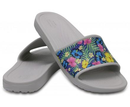 Women's Crocs Sloane Graphic Slides
