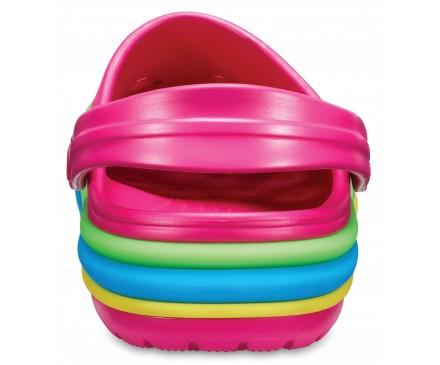 Crocband™ Rainbow Band Clogs