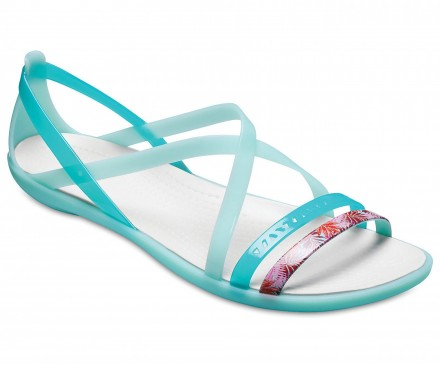 Women's Crocs Isabella Cut-Out Graphic Strappy Sandals