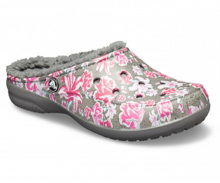 Women's Crocs Freesail Graphic Fuzz Lined Clog
