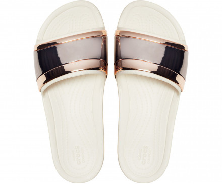 Women's Crocs Sloane MetalBlock Slide