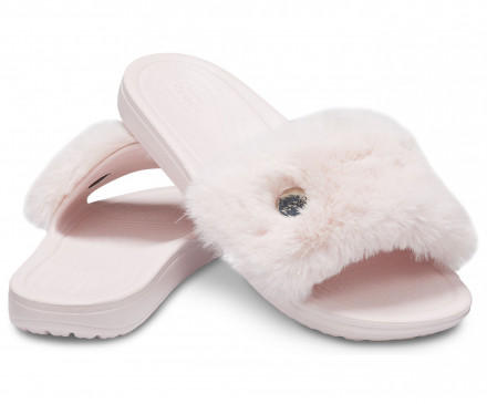 Women's Crocs Sloane Luxe Slide