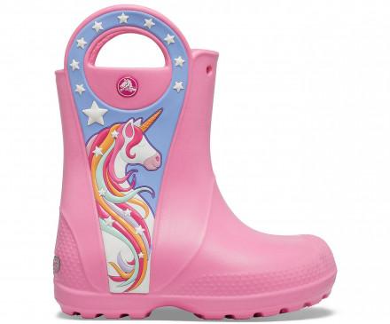 Girls' Crocs Fun Lab Unicorn Patch Rain Boot