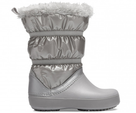 Girls' Crocband™ LodgePoint Metallic Winter Boot