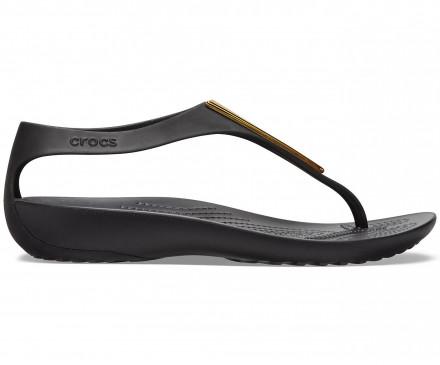 Women's Crocs Serena Metallic Bar Flip