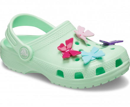 Kids' Classic Butterfly Charm Clog