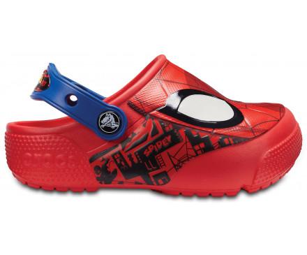 Kids' Crocs Fun Lab Spider-Man Lights Clog