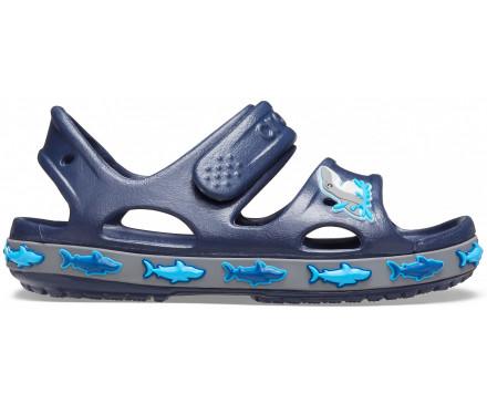 Kids' Crocs Fun Lab Shark Band Sandal