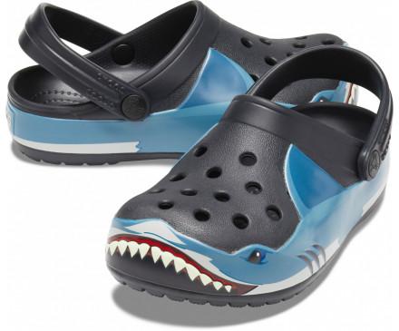 Kids' Crocs Fun Lab Shark Band Clog