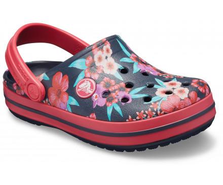 Kids' Crocband™ Flower Print Clog