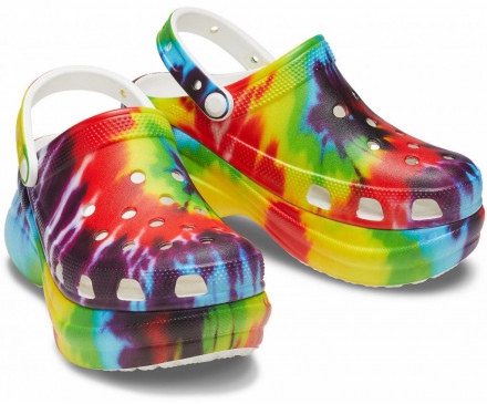 Women's Crocs Classic Bae Tie-Dye Graphic Clog