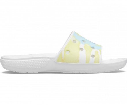 Classic Crocs Tie-Dye Graphic Slide