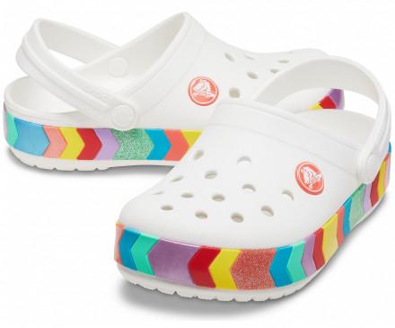Kids' Crocband™ Chevron Beaded Clog