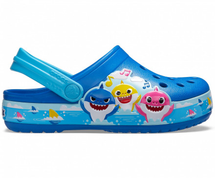 Crocs Kids' Fun Lab Baby Shark Band Clog
