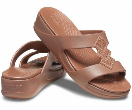 Women's Crocs Monterey Shimmer Slip-On Wedge